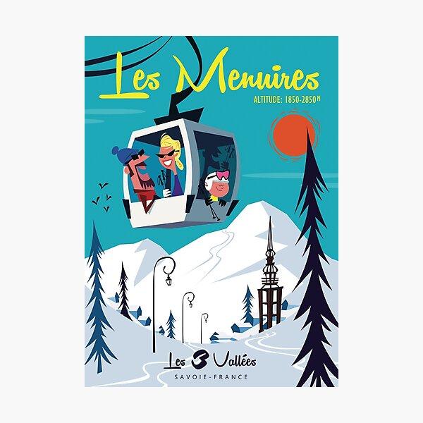 Les Menuires poster Photographic Print