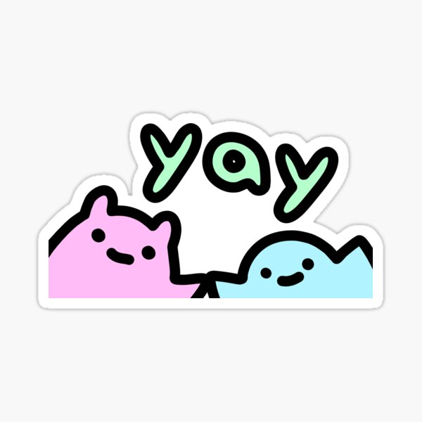 SLIME CAT AND FRIENDS: Yay Sticker