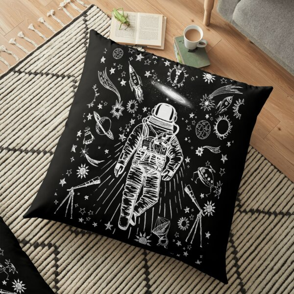 off white galaxy cool design Floor Pillow