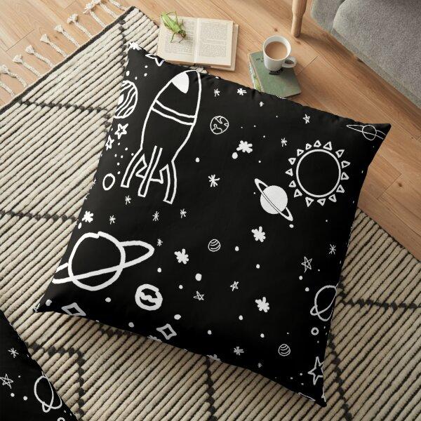 off white galaxy 2021 Floor Pillow