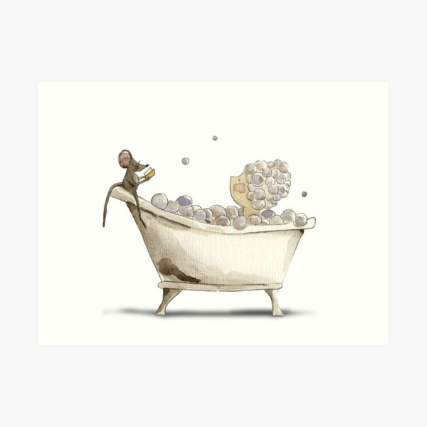 Bubble Baths and Books Art Print