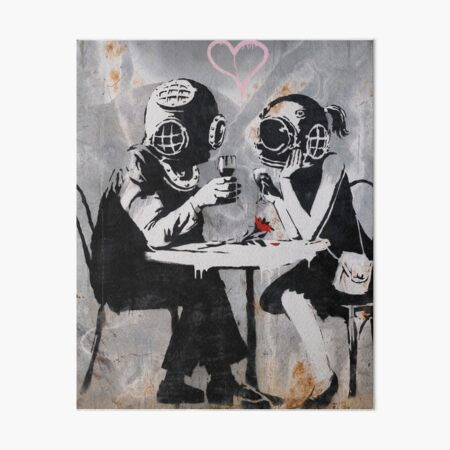 Banksy Street Art Think Tank Dating Couple Art Board Print