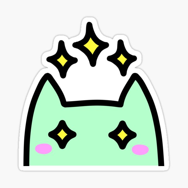 SLIME CAT AND FRIENDS: Sparkle Sticker