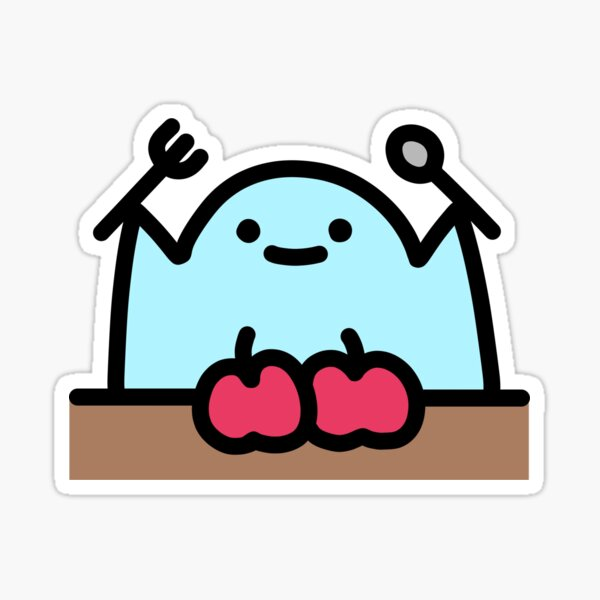 SLIME CAT AND FRIENDS: Meal Time! Sticker