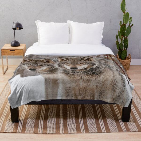 Timber Wolves Throw Blanket