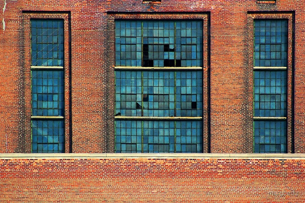 Factory Windows by marybedy