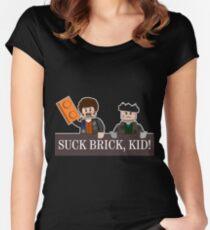 SUCK BRICK, KID! Women's Fitted Scoop T-Shirt