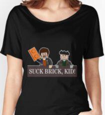 SUCK BRICK, KID! Women's Relaxed Fit T-Shirt
