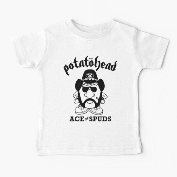 Heavy Metal Rock Potatohead Ace of Spuds Baby T-Shirt