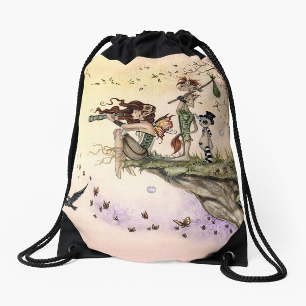 Where The Wind Takes You Drawstring Bag