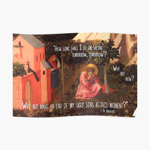 The Conversion of St. Augustine Poster