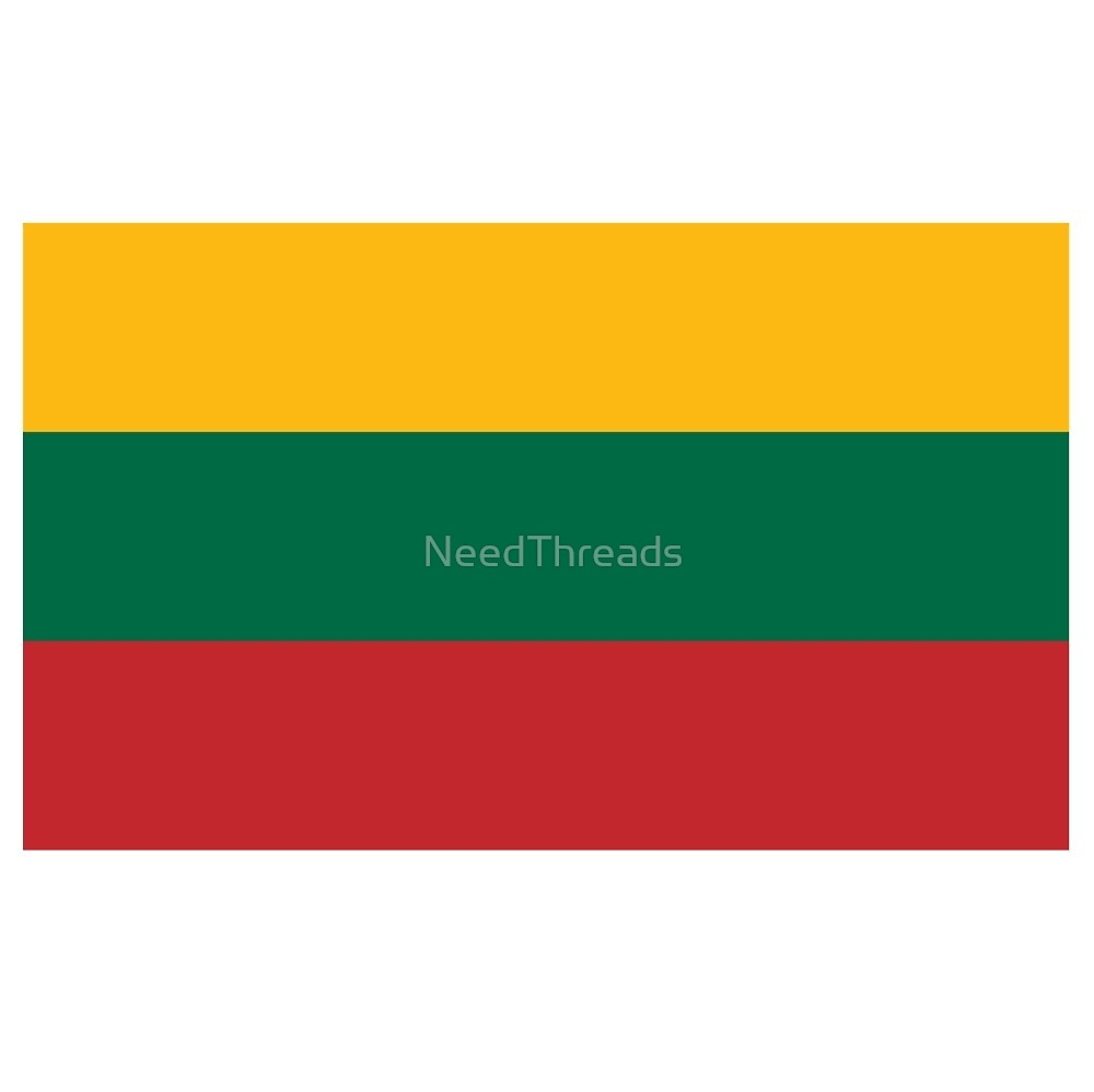 Lithuania Flag by NeedThreads