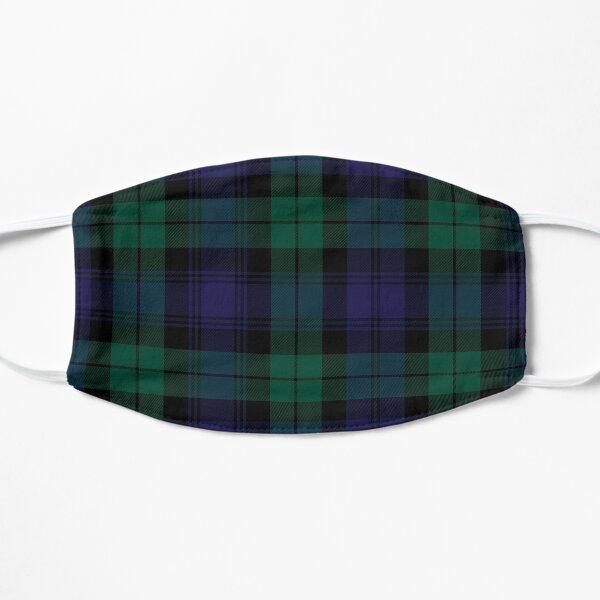 Blackwatch Tartan Clothing   Modern   Cute Blue and Green Plaid Flat Mask
