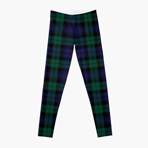 Blackwatch Tartan Clothing   Modern   Cute Blue and Green Plaid Leggings