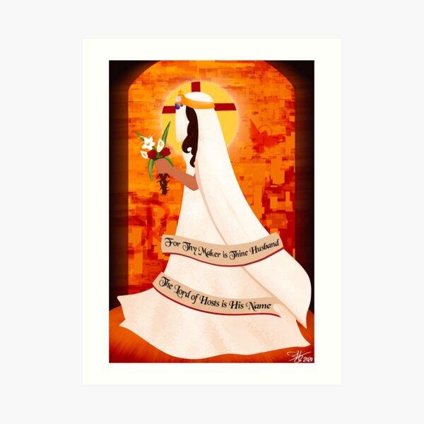 The Bride Awaits Her Groom Art Print