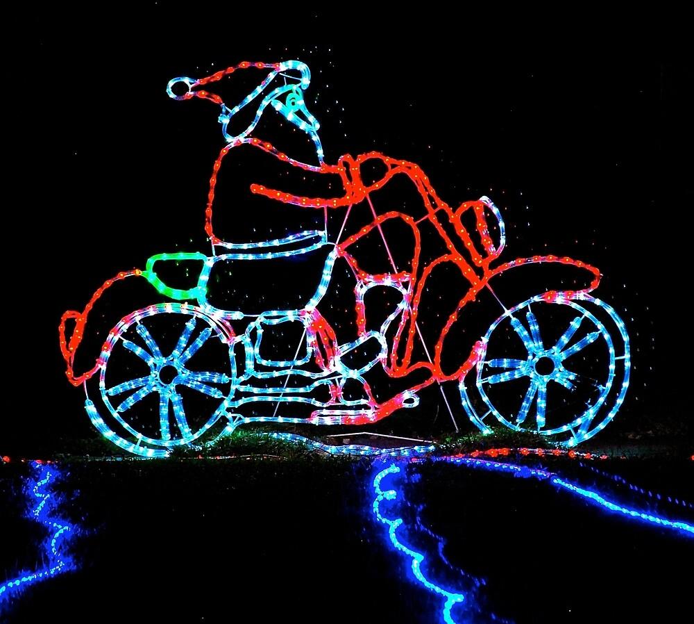 Santa's Motorbike by Penny Smith