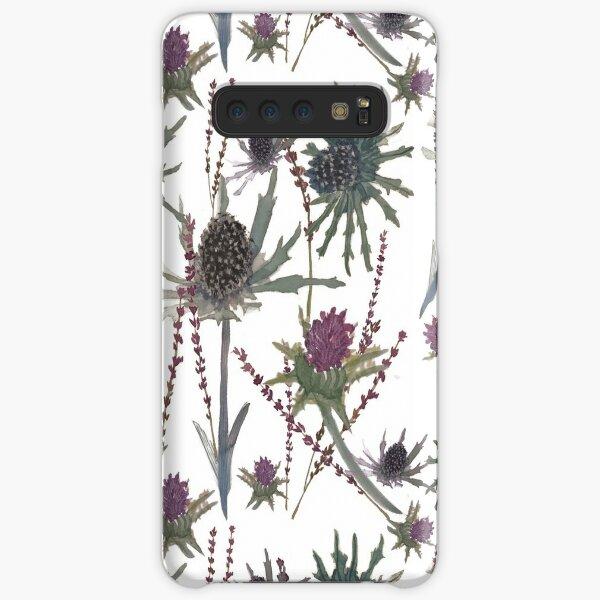 Thistles white Samsung Galaxy Snap Case