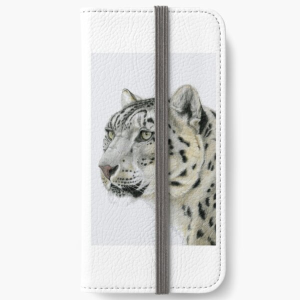 Snow Leopard Portrait (left) iPhone Wallet