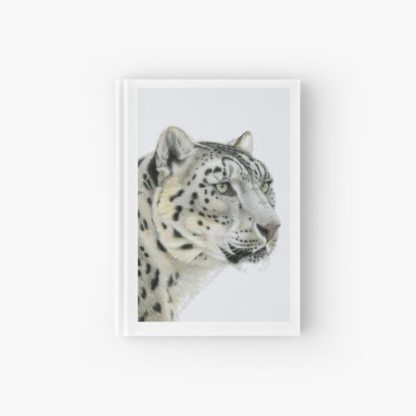 Snow Leopard Portrait (right) Hardcover Journal