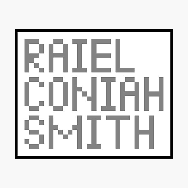 Raiel Coniah Smith 1.0 Photographic Print