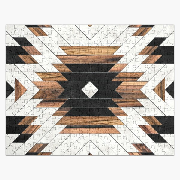 Urban Tribal Pattern No.5 - Aztec - Concrete and Wood Jigsaw Puzzle