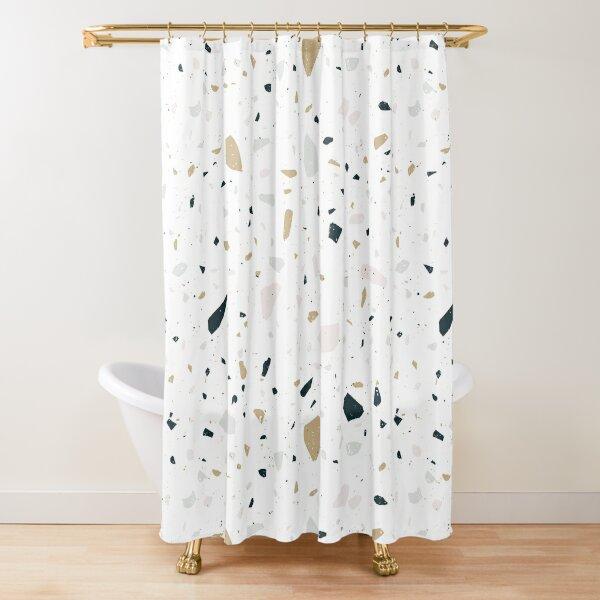 Modern Terrazzo Pattern Shower Curtain