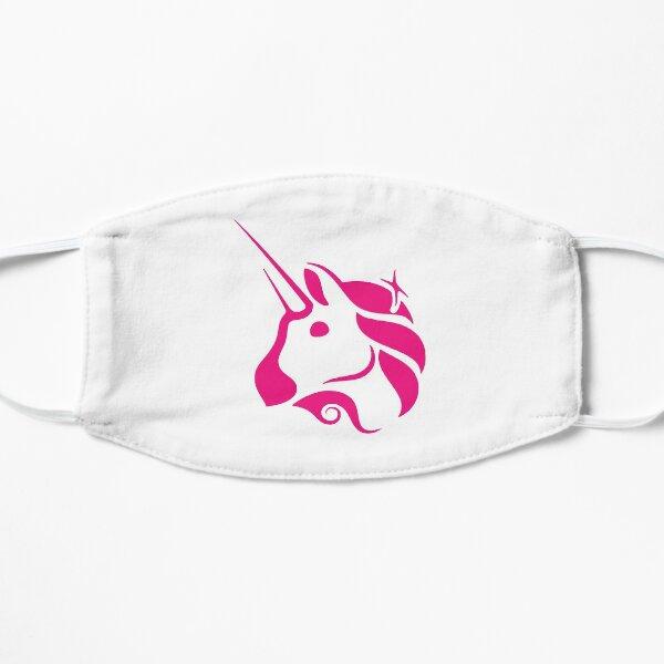 uniswap unicornios arcoíris lindas graciosas Mascarilla plana