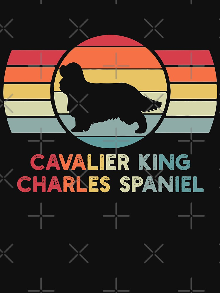 Cavalier king Charles Spaniel Dog Vintage Retro by XCosmos7