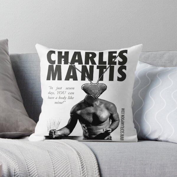 Charles Mantis Throw Pillow