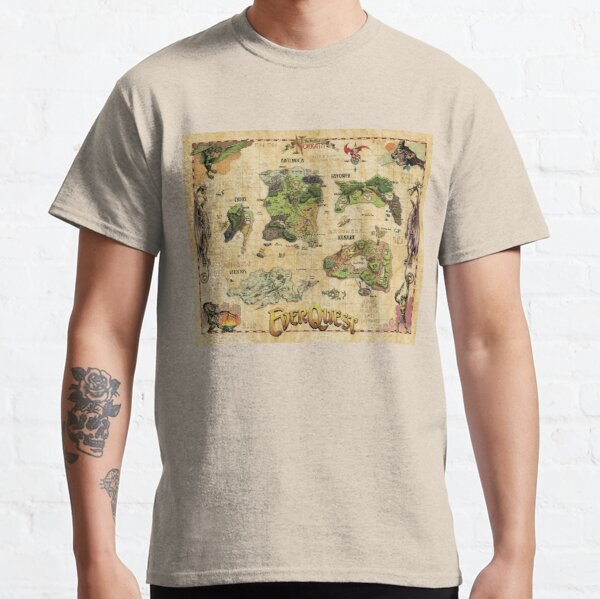 Everquest World of Norrath Map Classic T-Shirt