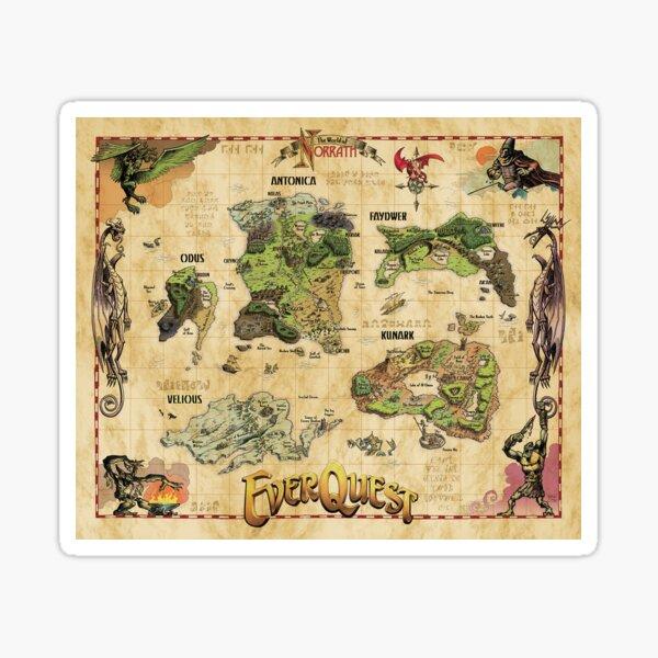 Everquest World of Norrath Karte Sticker