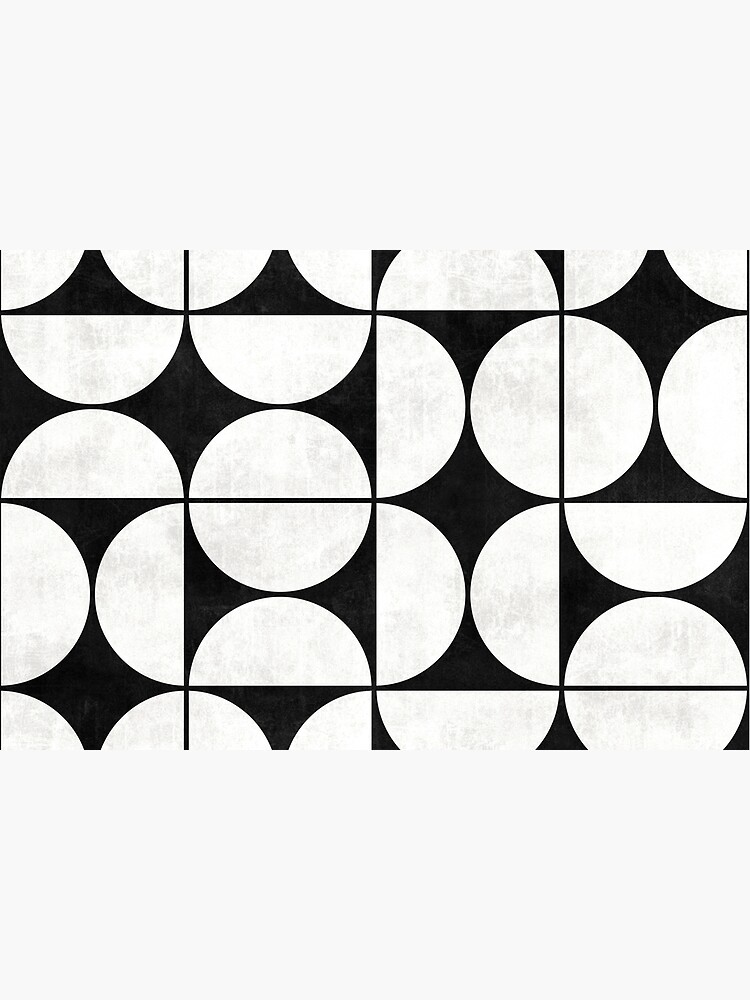 Mid-Century Modern Pattern No.2 - Black and White Concrete by ZoltanRatko