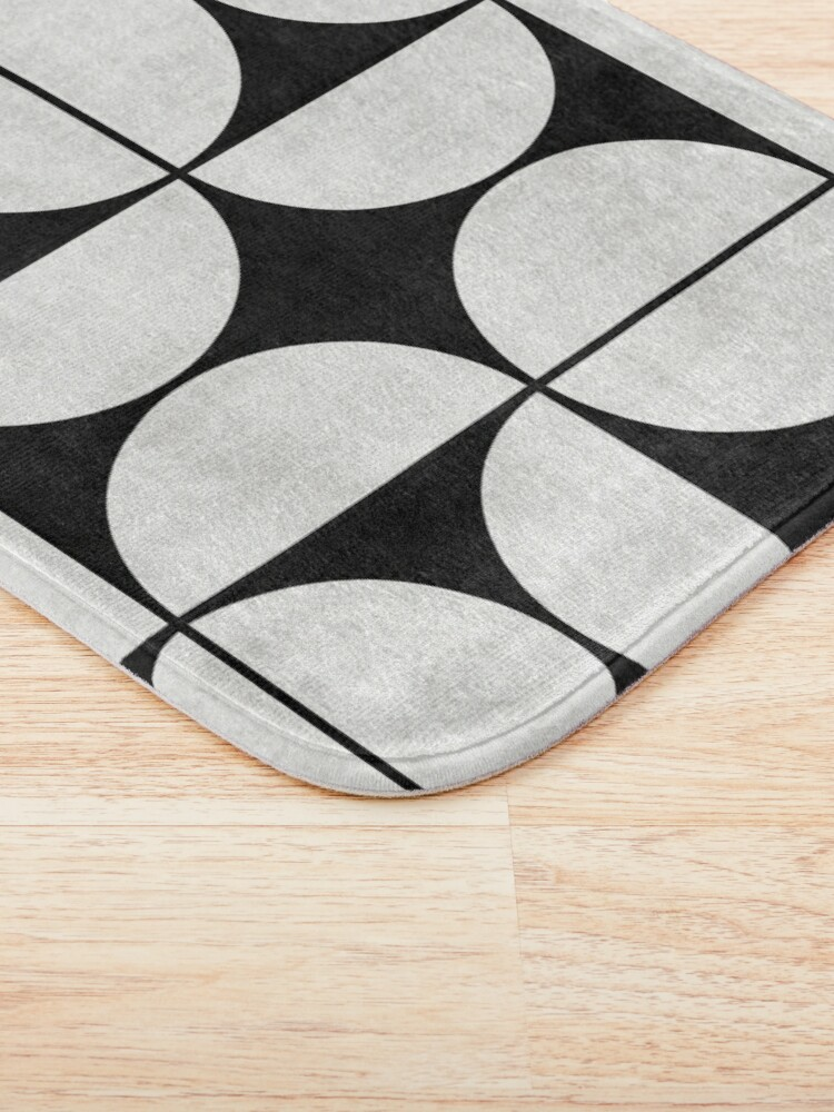 Alternate view of Mid-Century Modern Pattern No.2 - Black and White Concrete Bath Mat