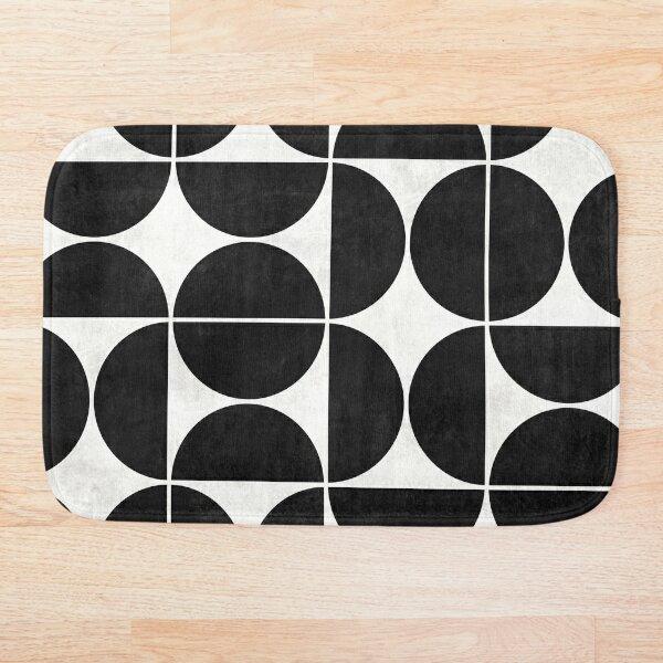 Mid-Century Modern Pattern No.3 - Black and White Concrete Bath Mat