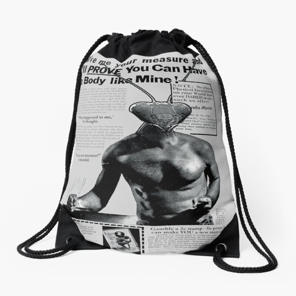 Charles Mantis Poster Drawstring Bag