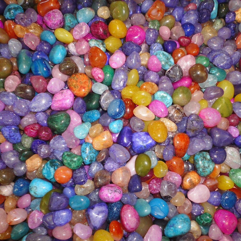 COLORED PEBBLES by johnhunternance