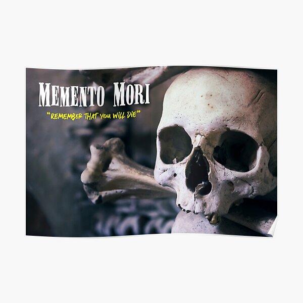 Memento Mori - Gold Tooth Skull Poster