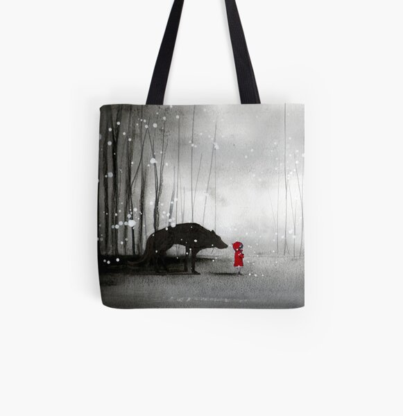 Little Red Riding Hood - In Denial All Over Print Tote Bag