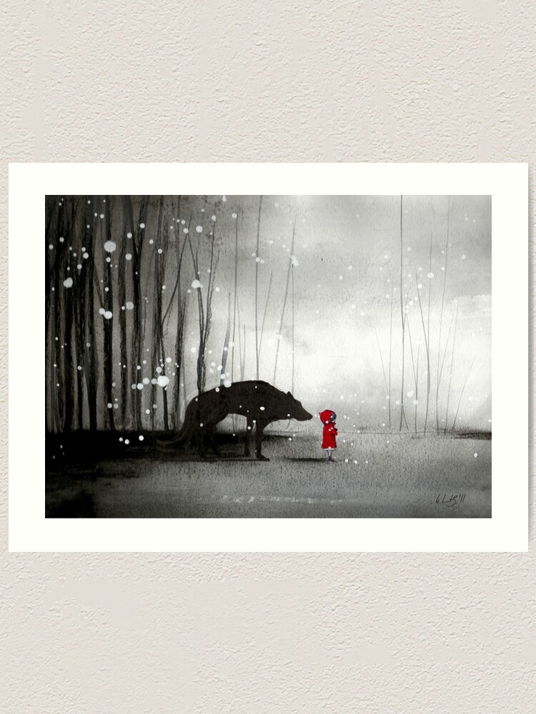 Alternate view of Little Red Riding Hood - In Denial Art Print