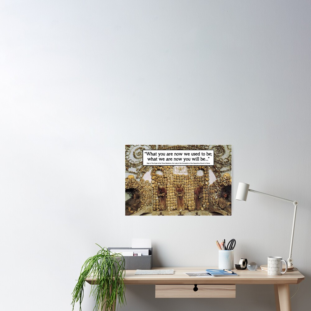 Memento Mori - Rome Bone Church Poster
