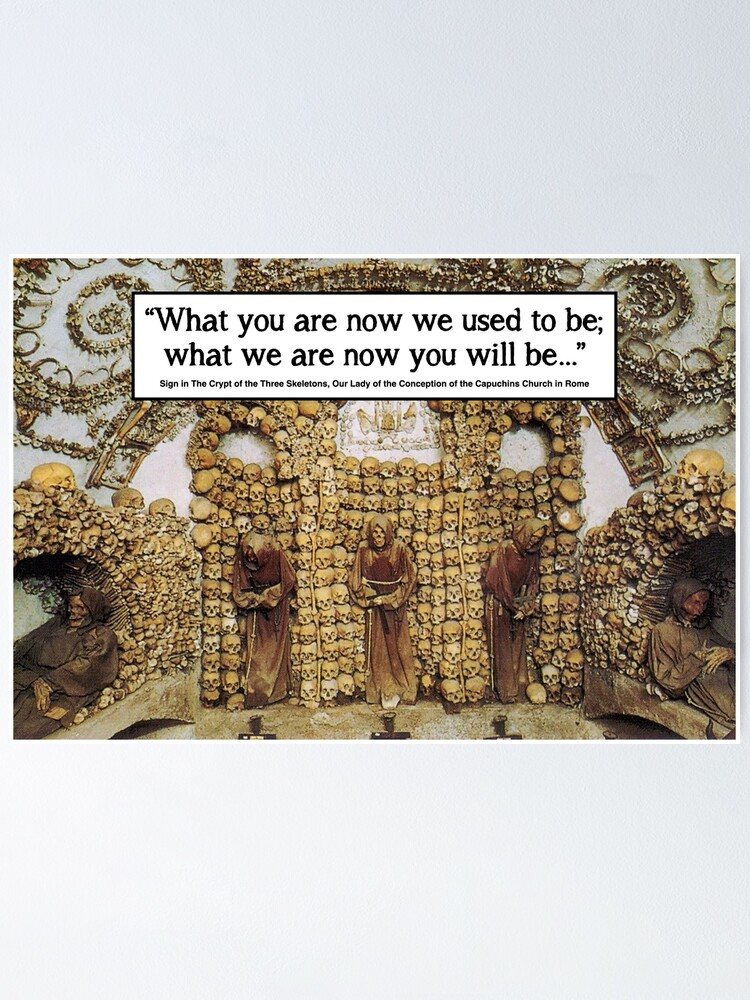 Alternate view of Memento Mori - Rome Bone Church Poster