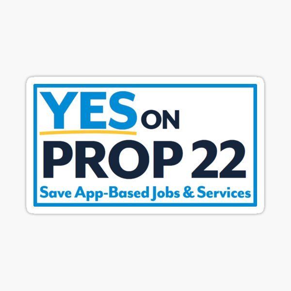 YES on Prop 22 Sticker