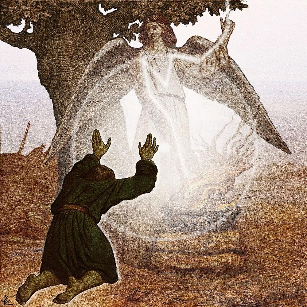 АНГЕЛ ГОСПОДЕНЬ ПРИХОДИТ К ГЕДЕОНУ. Angel of the Lord comes to Gideon. by zinakorotkova