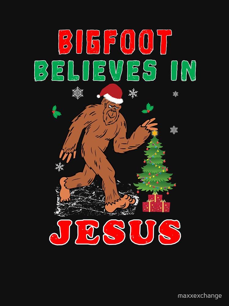 Bigfoot Believes Jesus Wintertime Squatchy Lord. by maxxexchange