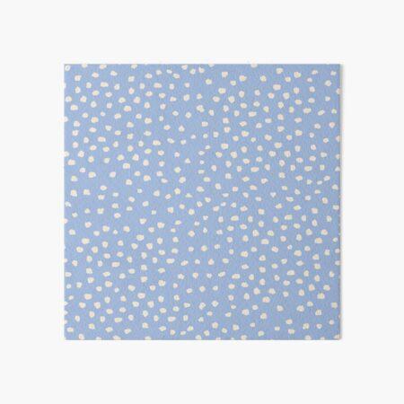 Buttercream Dalmatian Dots on Cerulean Blue Art Board Print