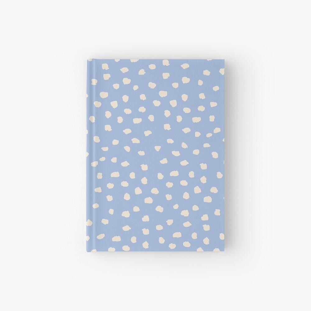 Buttercream Dalmatian Dots on Cerulean Blue Hardcover Journal