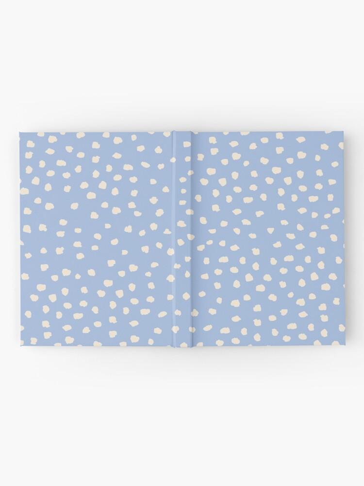 Alternate view of Buttercream Dalmatian Dots on Cerulean Blue Hardcover Journal