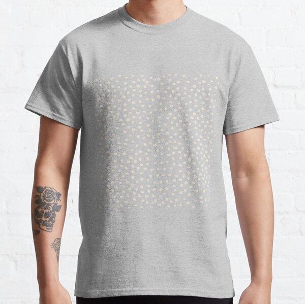 Buttercream Dalmatian Dots on Cerulean Blue Classic T-Shirt
