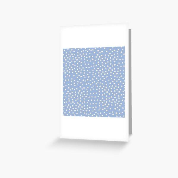 Buttercream Dalmatian Dots on Cerulean Blue Greeting Card