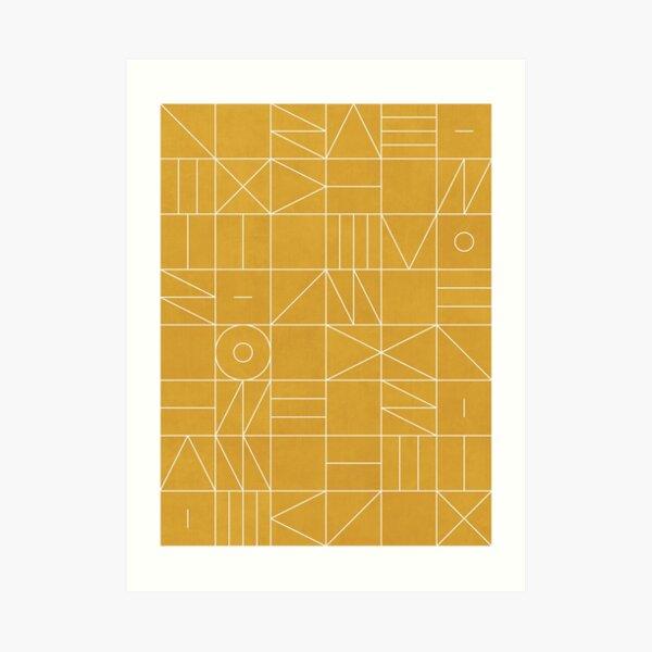 Mis Patrones Geométricos Favoritos No.4 - Amarillo Mostaza Lámina artística